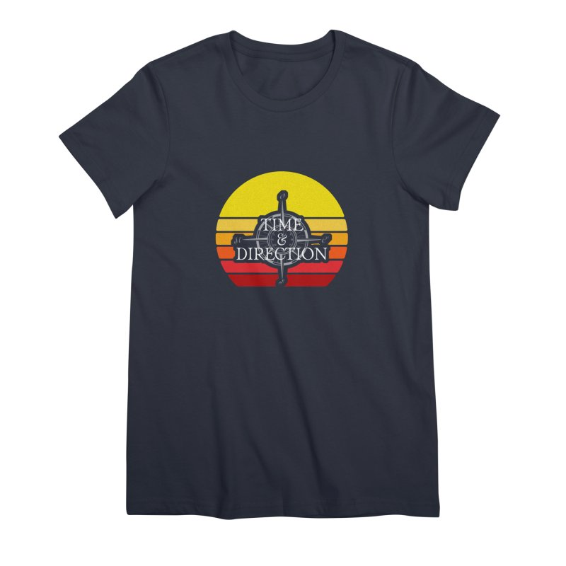 Retro Sunset Women's Premium T-Shirt by Time & Direction Wines's Artist Shop