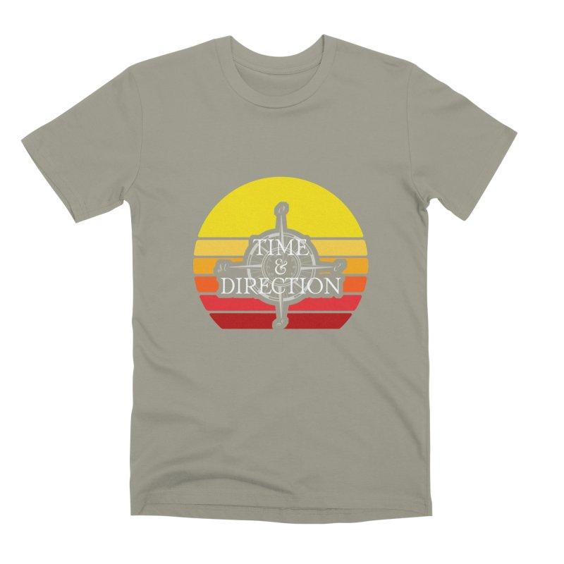 Retro Sunset Men's Premium T-Shirt by Time & Direction Wines's Artist Shop