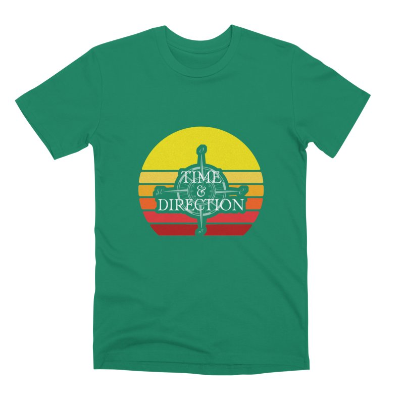 Retro Sunset Men's Premium T-Shirt by Time & Direction Wines's Artist Shop