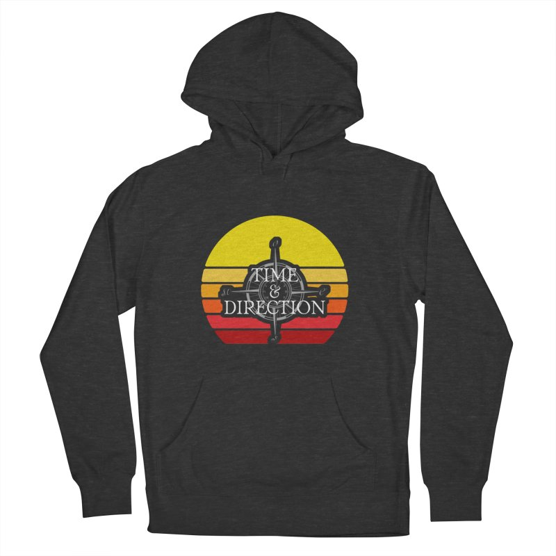 Retro Sunset Women's French Terry Pullover Hoody by Time & Direction Wines's Artist Shop