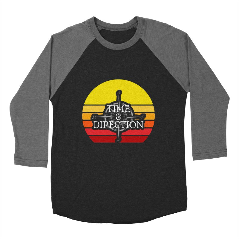 Retro Sunset Men's Baseball Triblend Longsleeve T-Shirt by Time & Direction Wines's Artist Shop