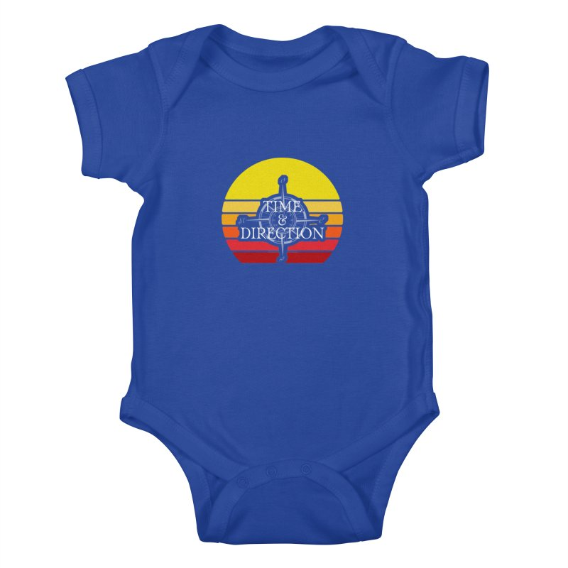 Retro Sunset Kids Baby Bodysuit by Time & Direction Wines's Artist Shop