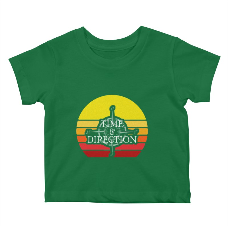 Retro Sunset Kids Baby T-Shirt by Time & Direction Wines's Artist Shop