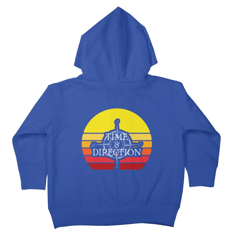 Retro Sunset Kids Toddler Zip-Up Hoody by Time & Direction Wines's Artist Shop