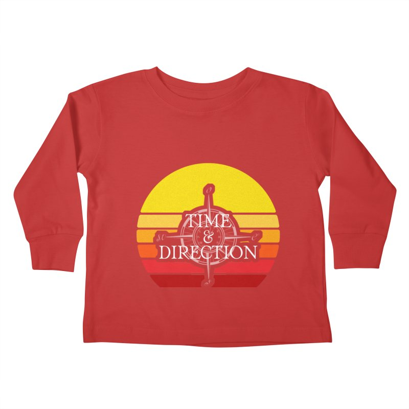 Retro Sunset Kids Toddler Longsleeve T-Shirt by Time & Direction Wines's Artist Shop