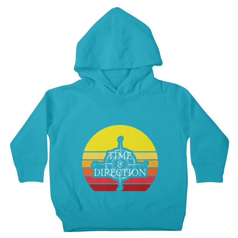 Retro Sunset Kids Toddler Pullover Hoody by Time & Direction Wines's Artist Shop