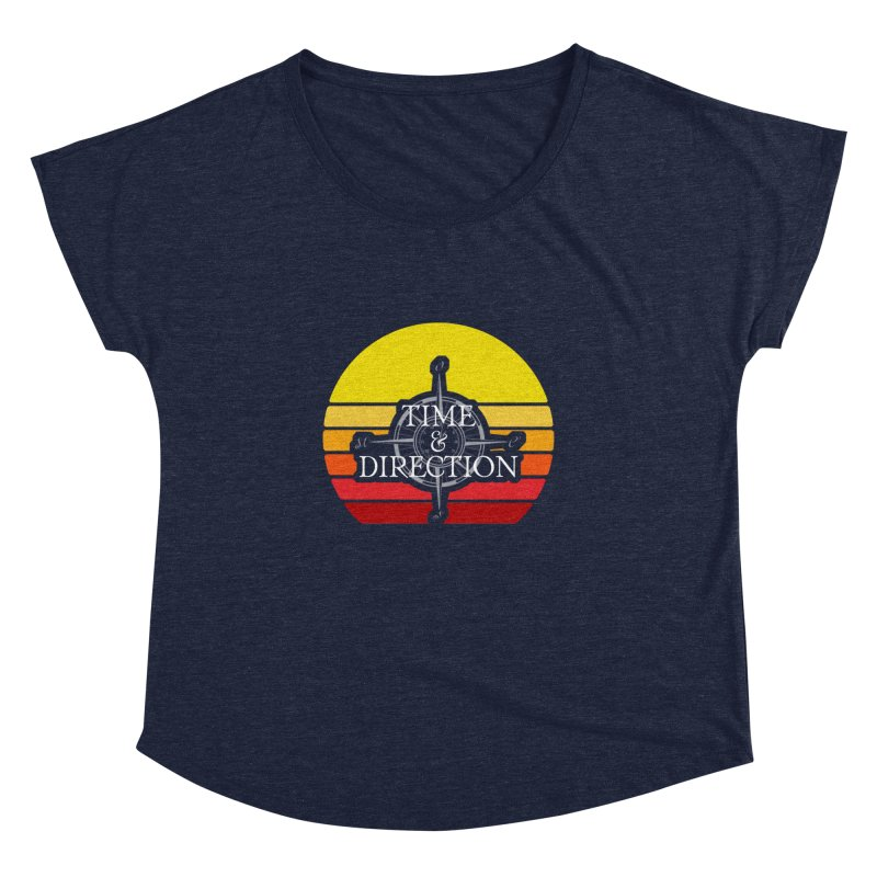 Retro Sunset Women's Dolman Scoop Neck by Time & Direction Wines's Artist Shop