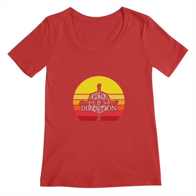 Retro Sunset Women's Regular Scoop Neck by Time & Direction Wines's Artist Shop