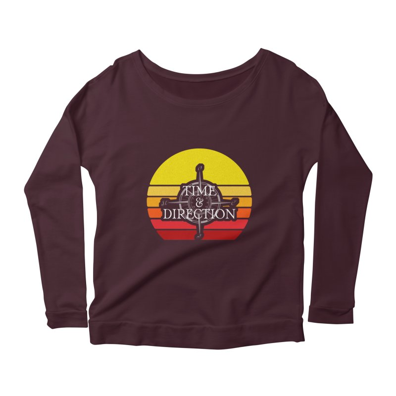 Retro Sunset Women's Scoop Neck Longsleeve T-Shirt by Time & Direction Wines's Artist Shop