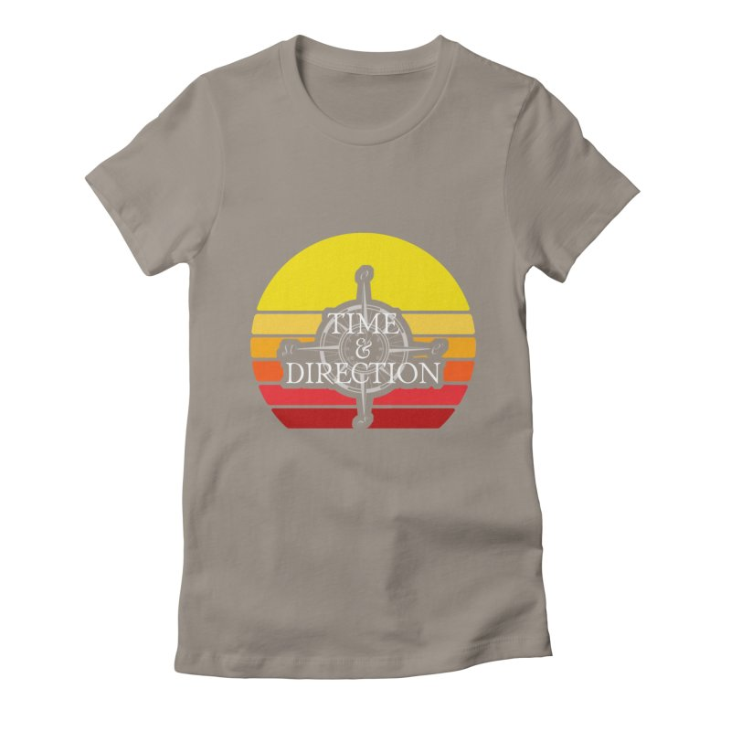 Retro Sunset Women's Fitted T-Shirt by Time & Direction Wines's Artist Shop