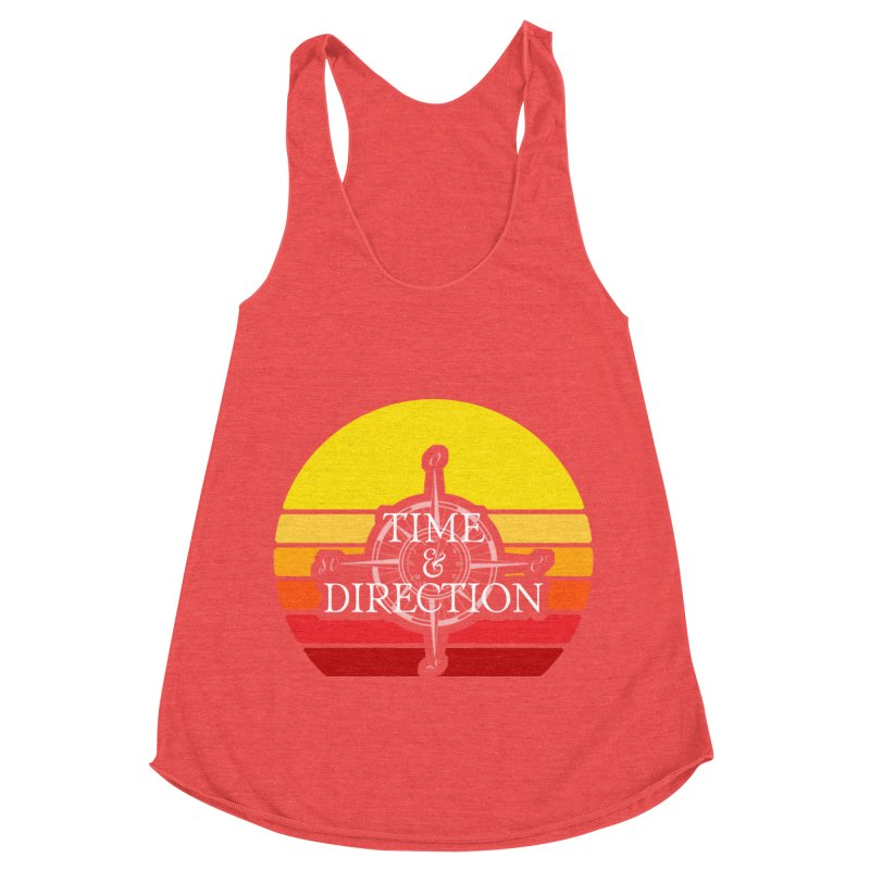 Retro Sunset Women's Racerback Triblend Tank by Time & Direction Wines's Artist Shop