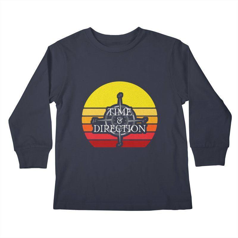Retro Sunset Kids Longsleeve T-Shirt by Time & Direction Wines's Artist Shop