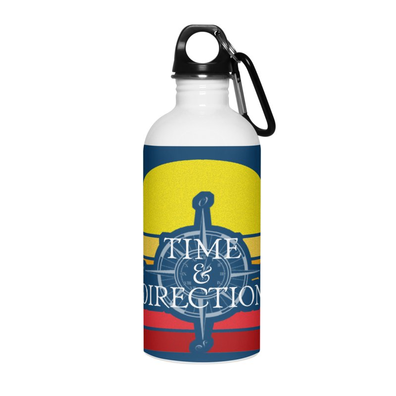 Retro Sunset Accessories Water Bottle by Time & Direction Wines's Artist Shop