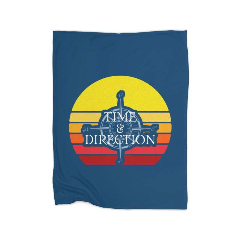 Retro Sunset Home Fleece Blanket Blanket by Time & Direction Wines's Artist Shop