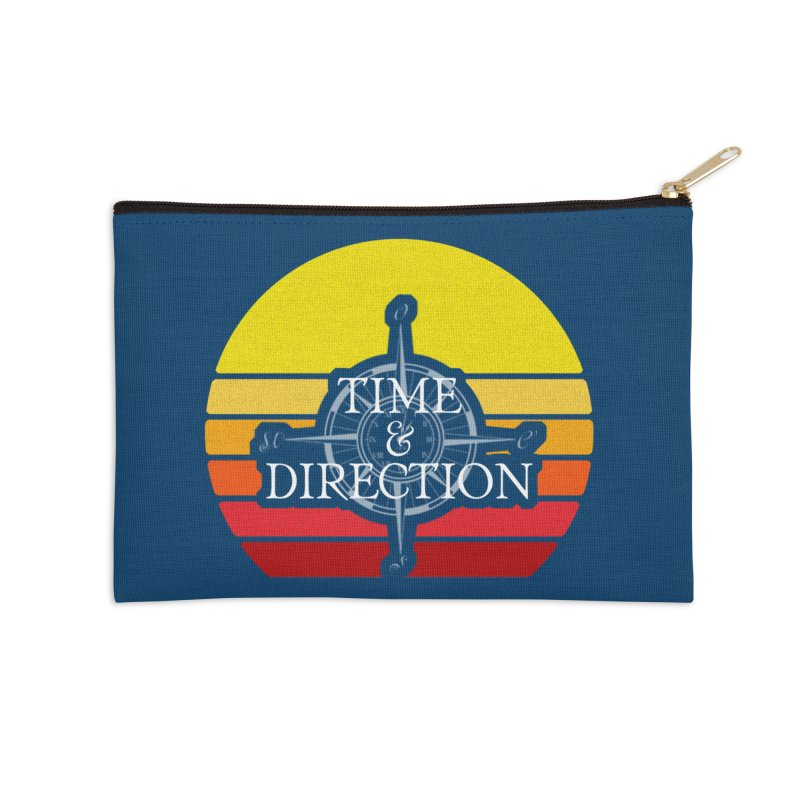 Retro Sunset Accessories Zip Pouch by Time & Direction Wines's Artist Shop