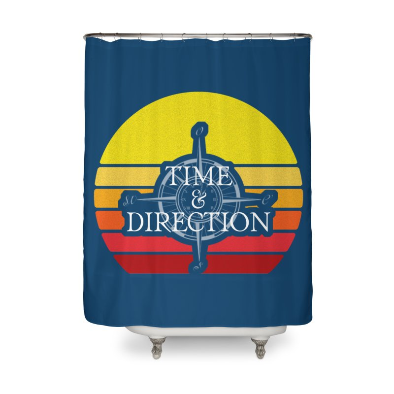 Retro Sunset Home Shower Curtain by Time & Direction Wines's Artist Shop