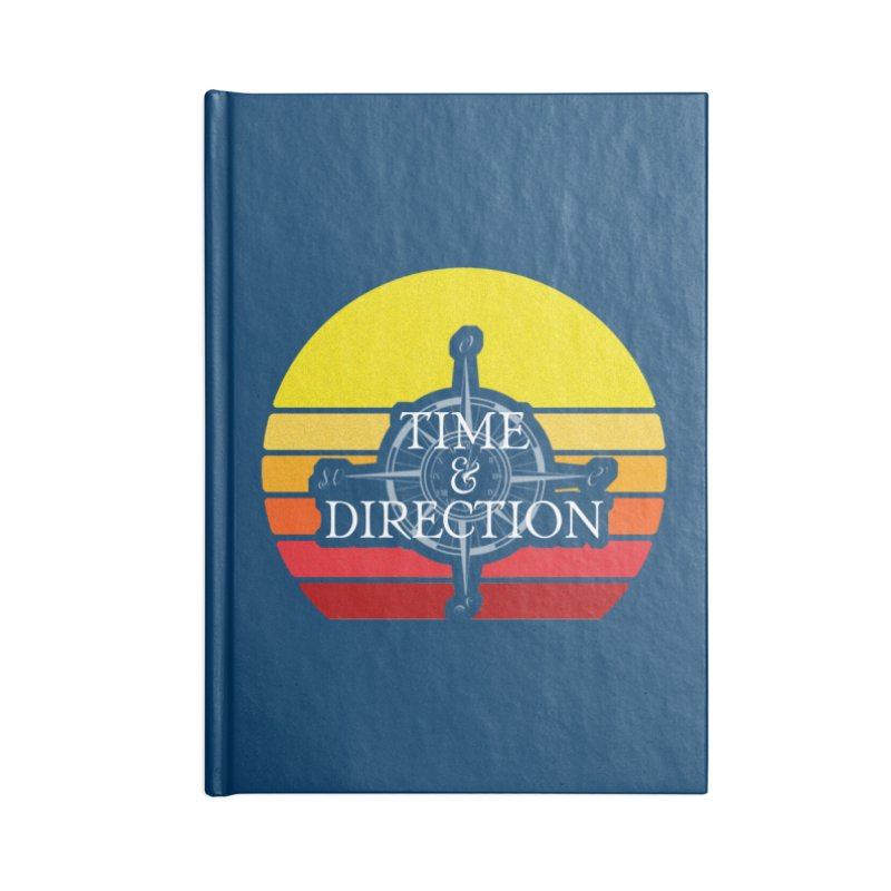 Retro Sunset Accessories Lined Journal Notebook by Time & Direction Wines's Artist Shop