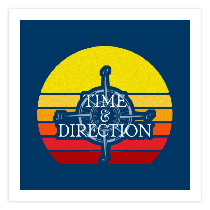 Retro Sunset Home Fine Art Print by Time & Direction Wines's Artist Shop