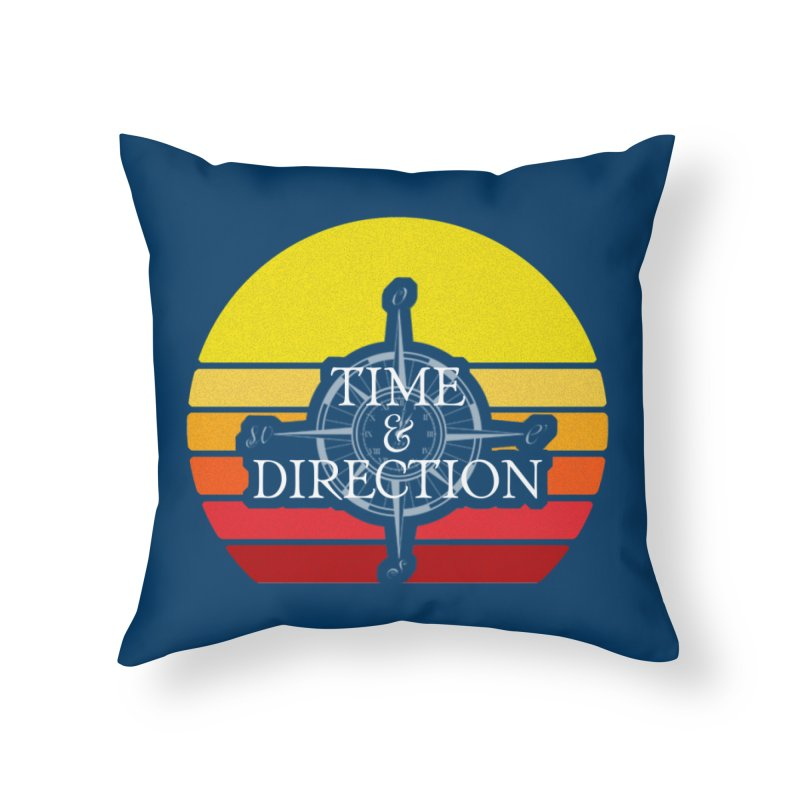 Retro Sunset Home Throw Pillow by Time & Direction Wines's Artist Shop
