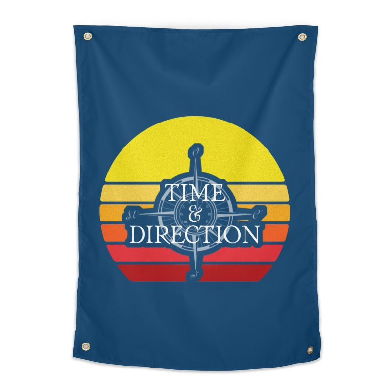 Retro Sunset Home Tapestry by Time & Direction Wines's Artist Shop