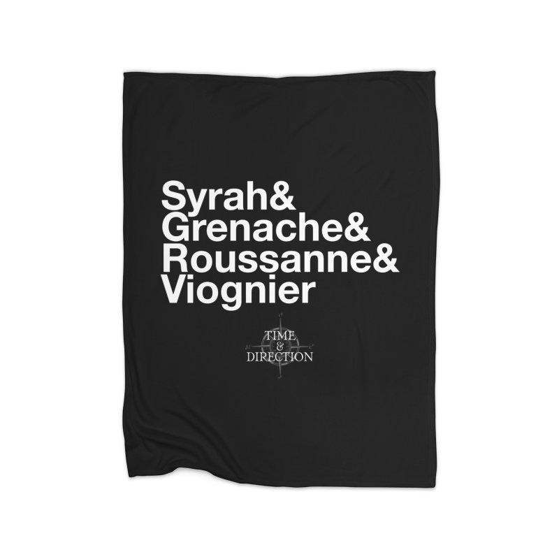 Helvetica Ampersand Home Fleece Blanket Blanket by Time & Direction Wines's Artist Shop