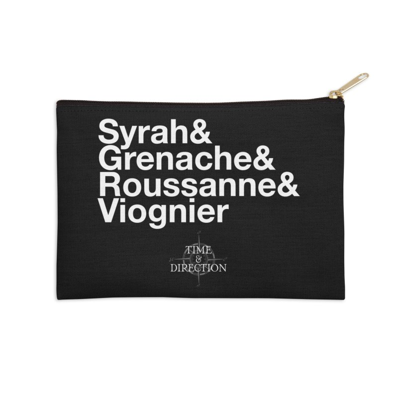 Helvetica Ampersand Accessories Zip Pouch by Time & Direction Wines's Artist Shop