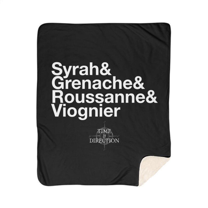 Helvetica Ampersand Home Sherpa Blanket Blanket by Time & Direction Wines's Artist Shop