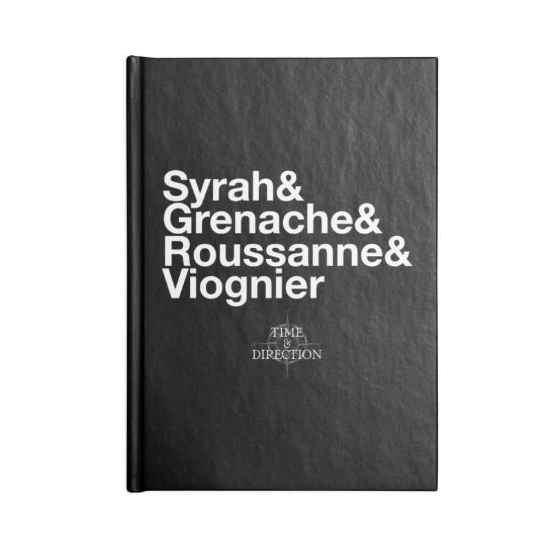 Helvetica Ampersand Accessories Lined Journal Notebook by Time & Direction Wines's Artist Shop
