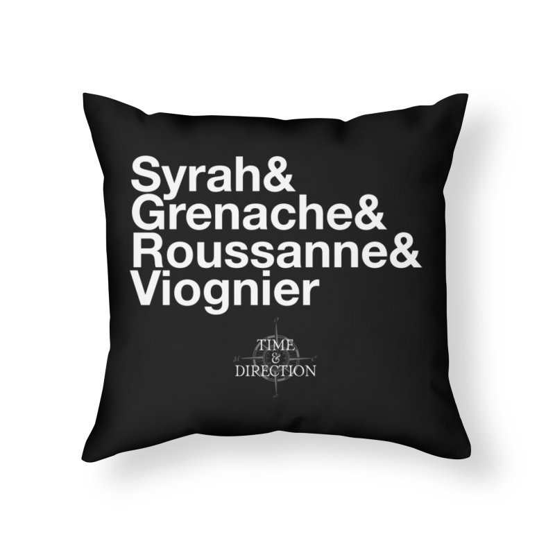 Helvetica Ampersand Home Throw Pillow by Time & Direction Wines's Artist Shop