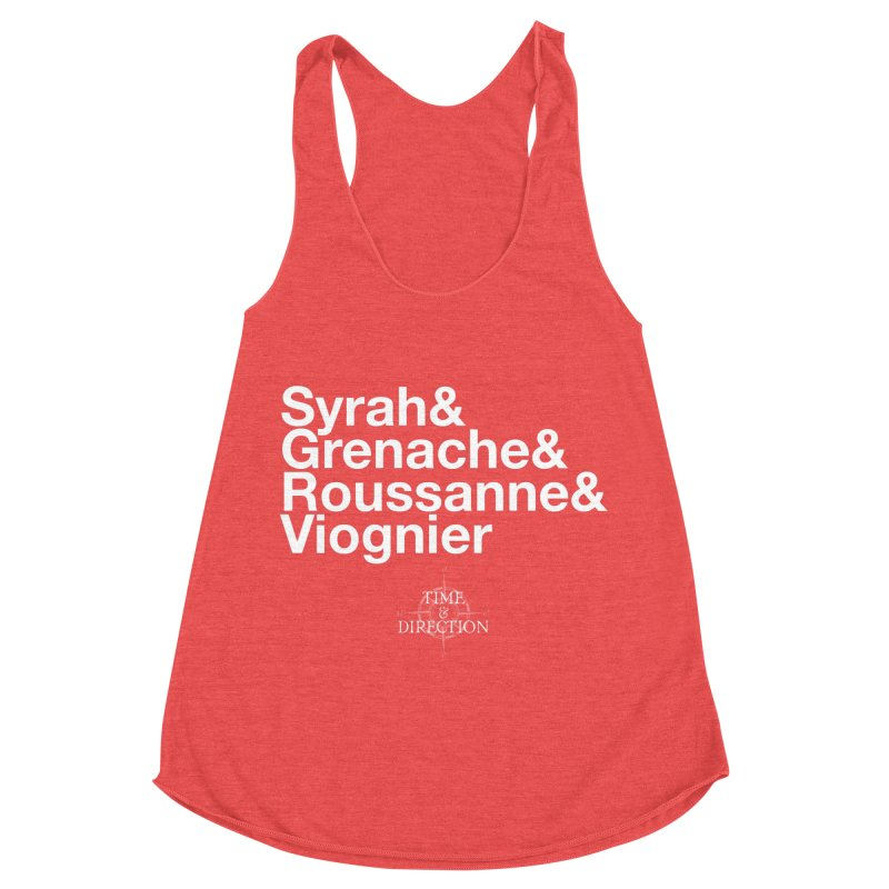 Helvetica Ampersand Women's Racerback Triblend Tank by Time & Direction Wines's Artist Shop