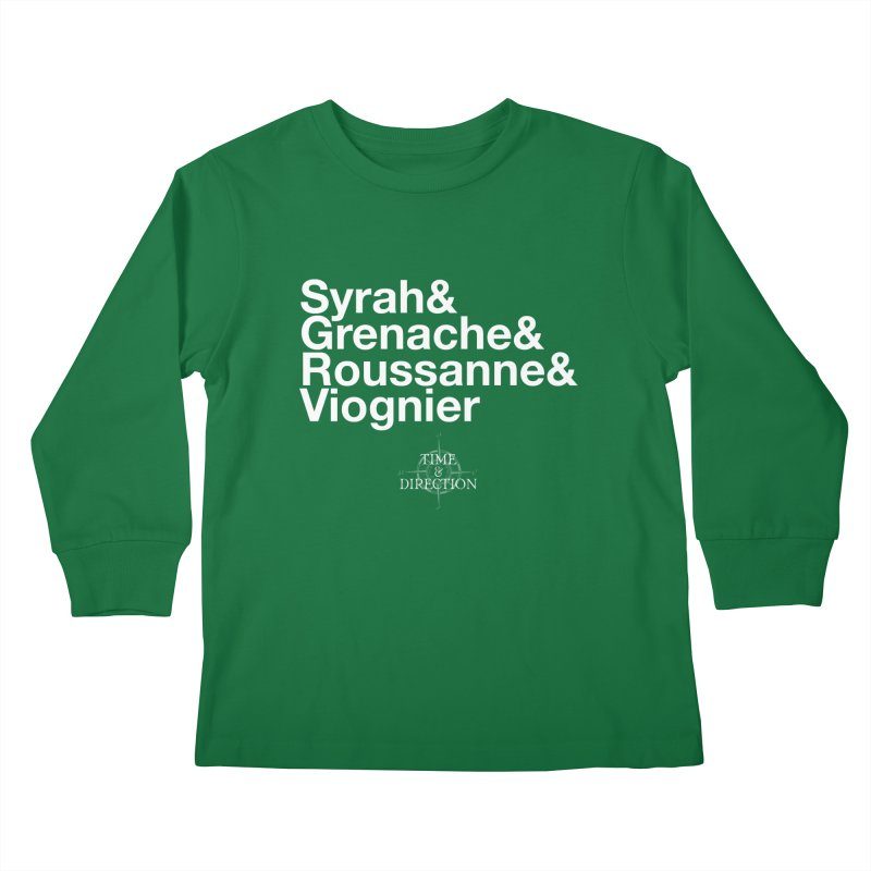 Helvetica Ampersand Kids Longsleeve T-Shirt by Time & Direction Wines's Artist Shop