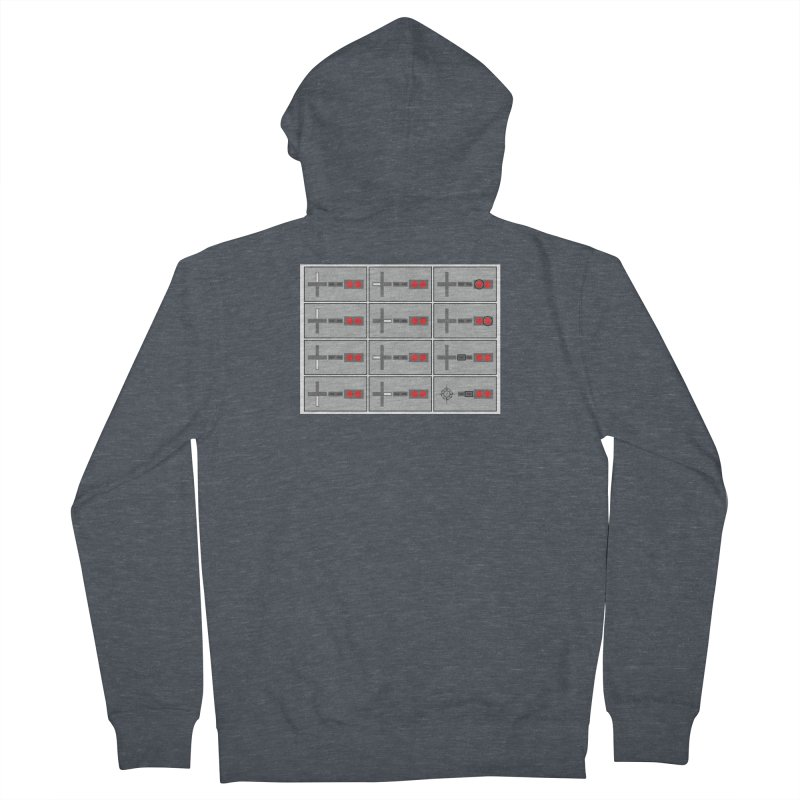UpUpDownDown Women's French Terry Zip-Up Hoody by Time & Direction Wines's Artist Shop
