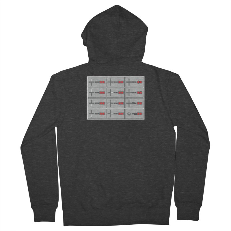 UpUpDownDown Men's French Terry Zip-Up Hoody by Time & Direction Wines's Artist Shop