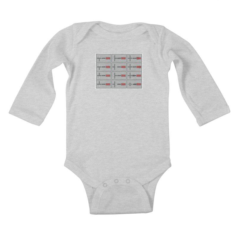 UpUpDownDown Kids Baby Longsleeve Bodysuit by Time & Direction Wines's Artist Shop