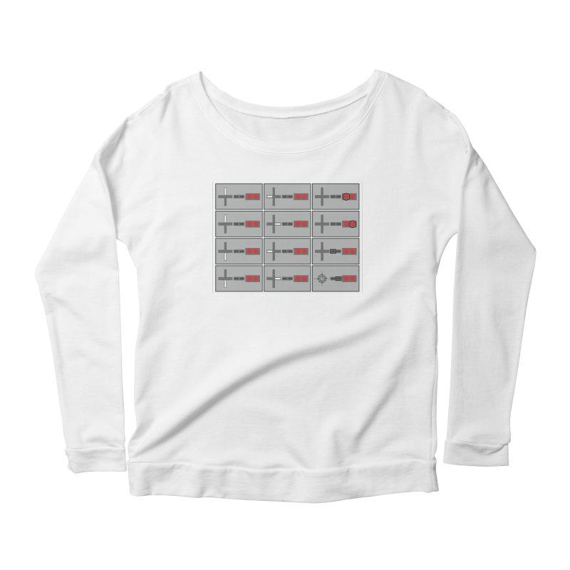 UpUpDownDown Women's Scoop Neck Longsleeve T-Shirt by Time & Direction Wines's Artist Shop