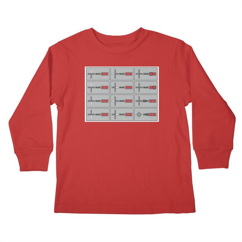 UpUpDownDown Kids Longsleeve T-Shirt by Time & Direction Wines's Artist Shop