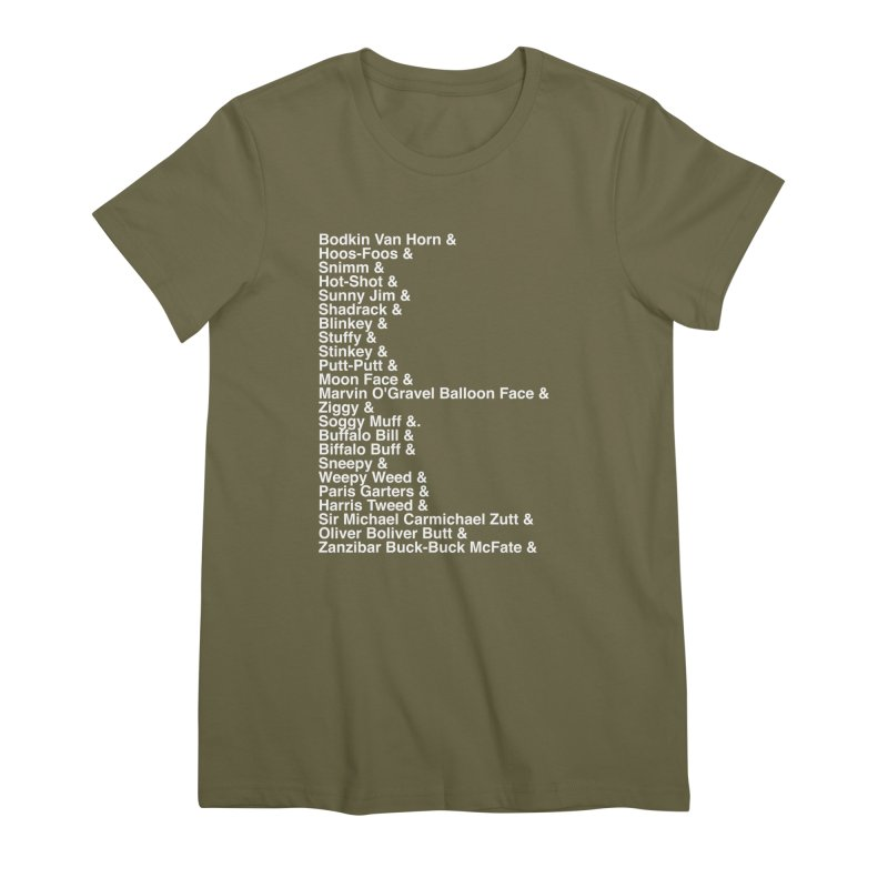 Too Many Daves Helvetica Women's Premium T-Shirt by Time & Direction Wines's Artist Shop