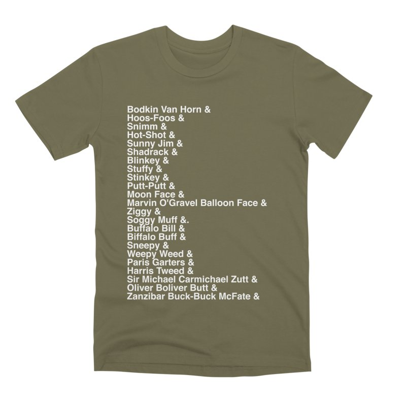 Too Many Daves Helvetica Men's Premium T-Shirt by Time & Direction Wines's Artist Shop
