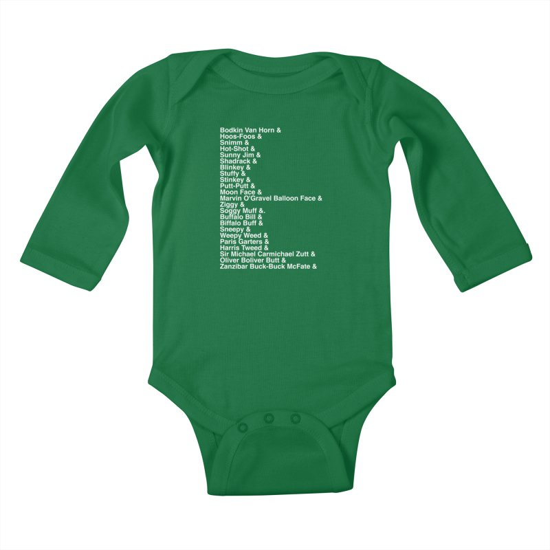 Too Many Daves Helvetica Kids Baby Longsleeve Bodysuit by Time & Direction Wines's Artist Shop