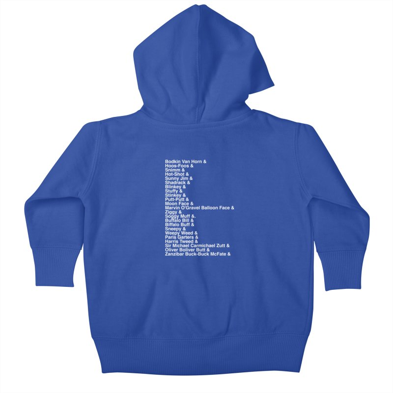 Too Many Daves Helvetica Kids Baby Zip-Up Hoody by Time & Direction Wines's Artist Shop