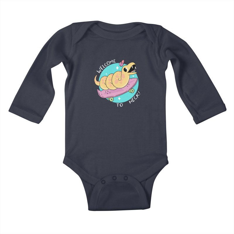 Welcome To Heck Kids Baby Longsleeve Bodysuit by GOOD AND NICE SHIRTS