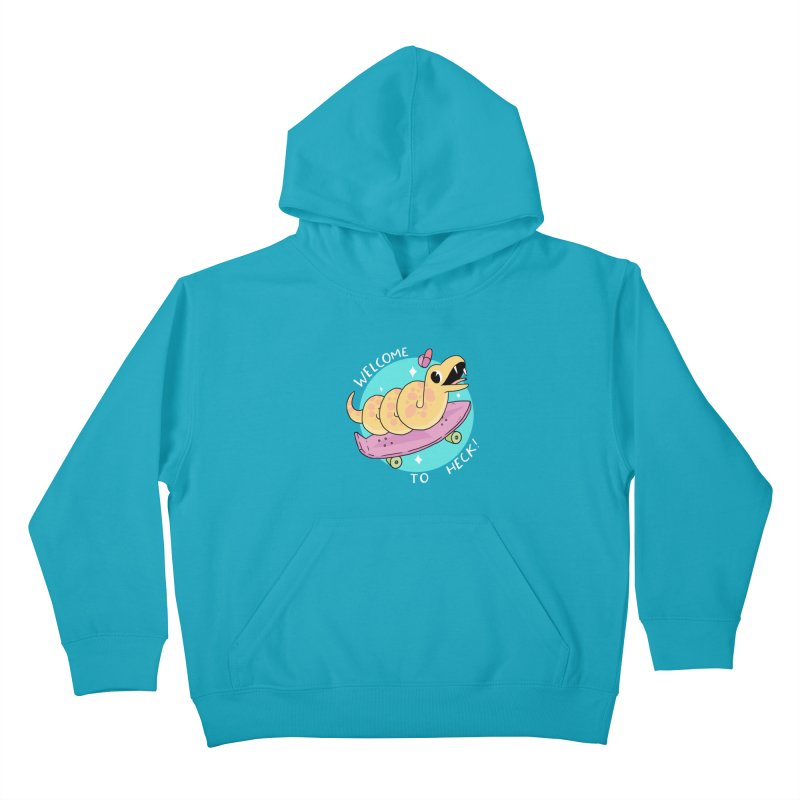 Welcome To Heck Kids Pullover Hoody by GOOD AND NICE SHIRTS