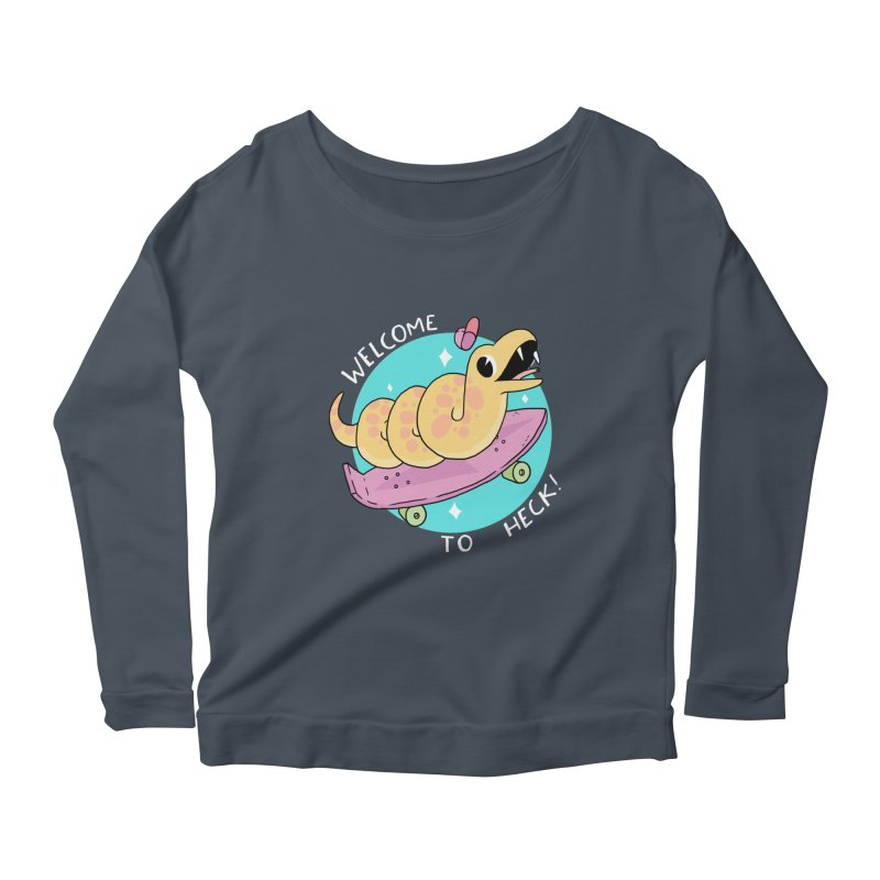 Welcome To Heck Women's Longsleeve Scoopneck  by GOOD AND NICE SHIRTS