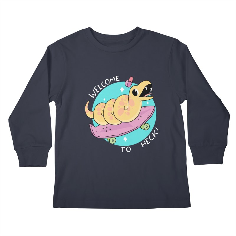 Welcome To Heck Kids Longsleeve T-Shirt by GOOD AND NICE SHIRTS