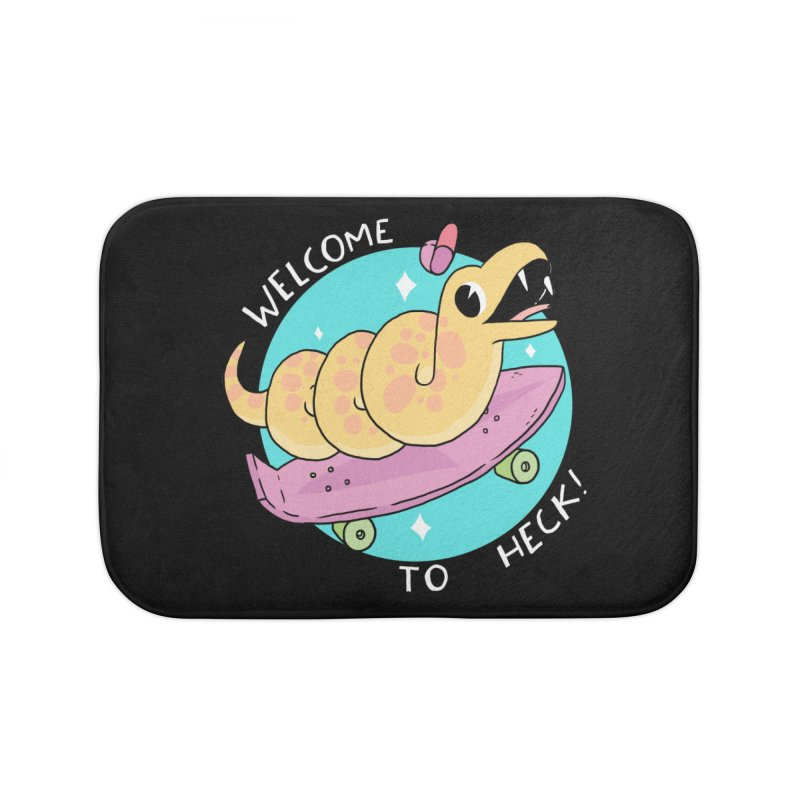 Welcome To Heck Home Bath Mat by GOOD AND NICE SHIRTS