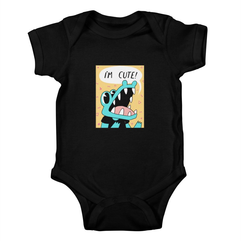 I'M CUTE! Kids Baby Bodysuit by GOOD AND NICE SHIRTS