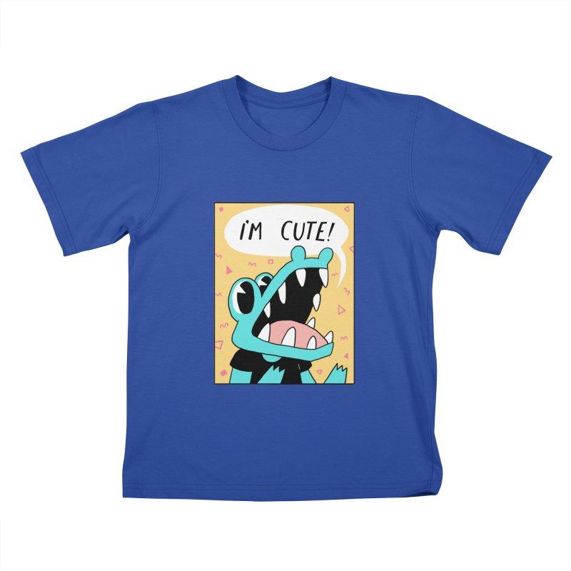 I'M CUTE! Kids T-shirt by GOOD AND NICE SHIRTS