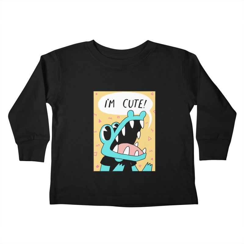 I'M CUTE! Kids Toddler Longsleeve T-Shirt by GOOD AND NICE SHIRTS