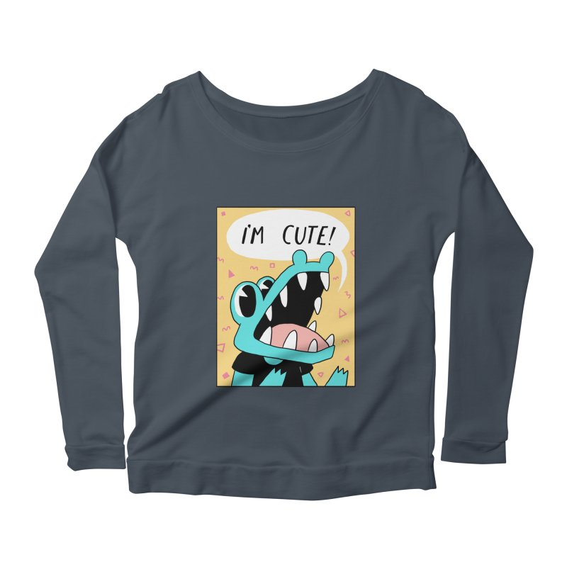 I'M CUTE! Women's Longsleeve Scoopneck  by GOOD AND NICE SHIRTS