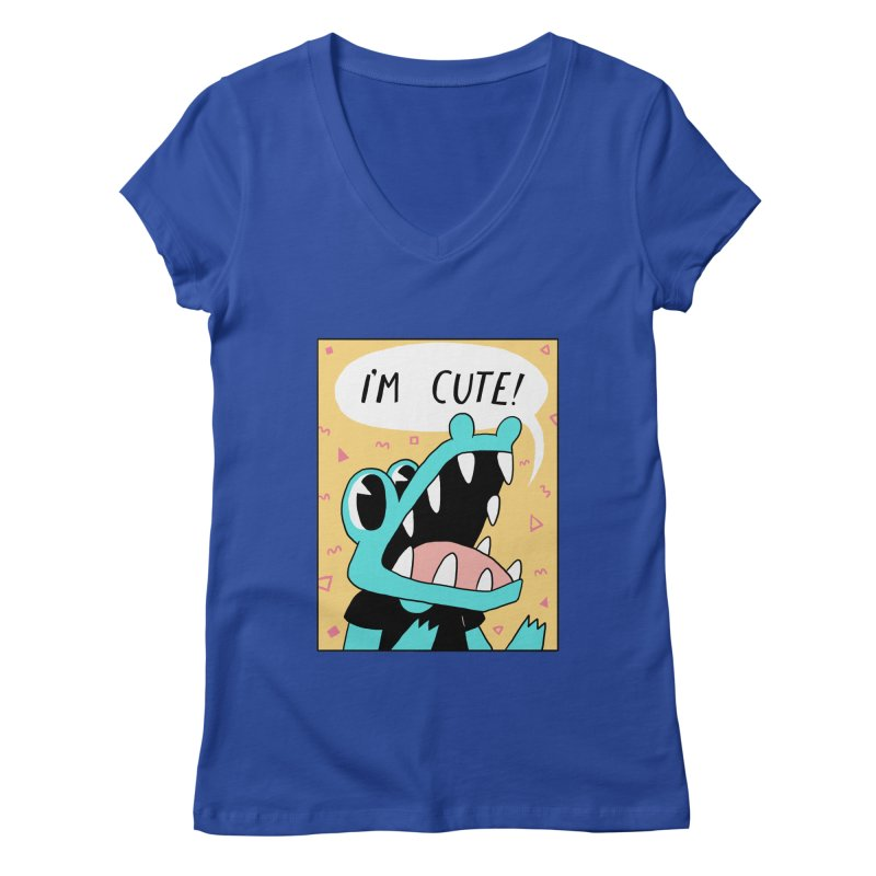 I'M CUTE! Women's V-Neck by GOOD AND NICE SHIRTS
